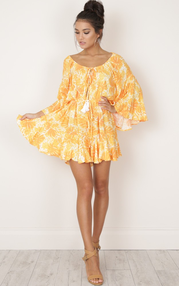 dd499dafc78 MORE THAN THIS PLAYSUIT IN YELLOW PRINT AU 74.95 US 57.95